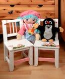 Cadeiras e manequins do bebê Imagem de Stock