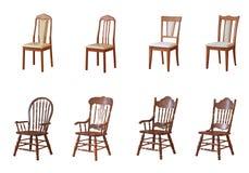 Cadeiras e poltronas isoladas Fotografia de Stock