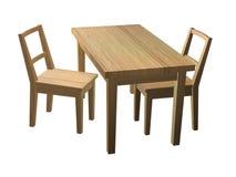 Cadeiras e tabela Fotos de Stock Royalty Free
