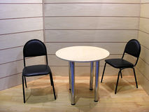 Cadeiras e tabela fotografia de stock