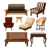 Cadeiras e tabela ilustração royalty free
