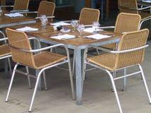 Cadeiras e tabela Foto de Stock