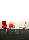 Cadeiras e tabela do projeto, verticais Imagens de Stock