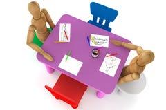 Cadeiras e tabela plásticas coloridas do miúdo Imagens de Stock