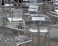 Cadeiras e tabelas fotografia de stock
