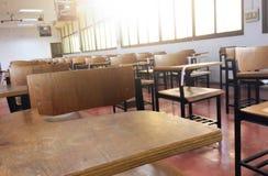 Cadeiras em minha sala de aula fotografia de stock royalty free