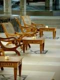 Cadeiras em um recurso, Maurícia imagens de stock royalty free