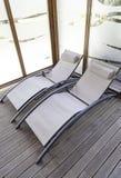 Cadeiras em uns termas Foto de Stock Royalty Free