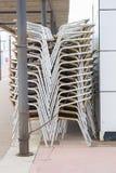 Cadeiras empilhadas Imagens de Stock Royalty Free