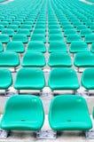 Cadeiras espectadoras vazias fotografia de stock royalty free