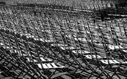 Cadeiras metálicas Foto de Stock Royalty Free