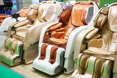 Cadeiras modernas da massagem Imagem de Stock Royalty Free