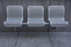 Cadeiras modernas do parque Fotografia de Stock