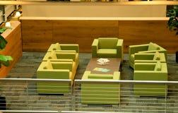 Cadeiras modernas do verde do escritório Imagens de Stock Royalty Free