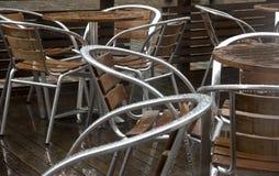 Cadeiras molhadas Imagem de Stock Royalty Free