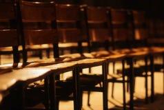 Cadeiras na igreja Fotos de Stock
