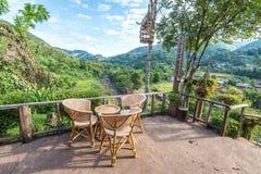Cadeiras na manhã Fotos de Stock