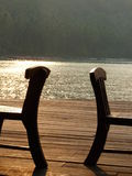 Cadeiras na praia Foto de Stock