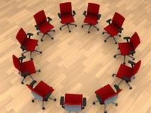 Cadeiras no círculo Foto de Stock Royalty Free