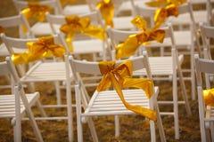 Cadeiras no casamento Imagem de Stock Royalty Free