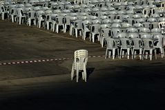 Cadeiras no espaço aberto Imagem de Stock Royalty Free