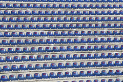 Cadeiras no estádio Fotografia de Stock Royalty Free