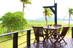 Cadeiras no jardim Imagens de Stock Royalty Free