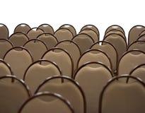 Cadeiras no salão vazio fotografia de stock royalty free