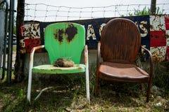 Cadeiras oxidadas foto de stock