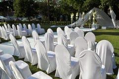 Cadeiras para a cerimônia de casamento Foto de Stock Royalty Free
