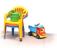 Cadeiras plásticas Fotografia de Stock