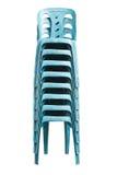 Cadeiras plásticas azuis Imagem de Stock Royalty Free