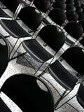 Cadeiras pretas Imagem de Stock Royalty Free