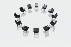 Cadeiras pretas no fundo branco Imagem de Stock Royalty Free