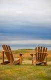Cadeiras resistidas de Adirondack Imagens de Stock
