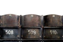 Cadeiras velhas do cinema Imagens de Stock