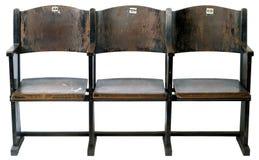 Cadeiras velhas do cinema Foto de Stock Royalty Free