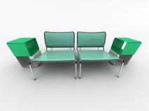 Cadeiras verdes ilustração do vetor