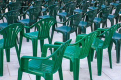 Cadeiras verdes Fotografia de Stock Royalty Free