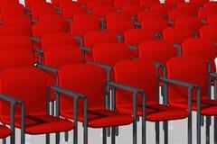 Cadeiras vermelhas Fotos de Stock Royalty Free