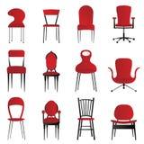 Cadeiras vermelhas Foto de Stock