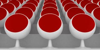 Cadeiras vermelhas Imagens de Stock