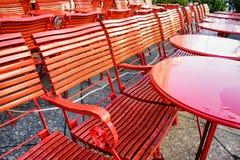 Cadeiras vermelhas foto de stock royalty free