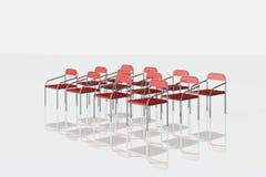 Cadeiras vermelhas no fundo branco Fotos de Stock Royalty Free