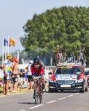 骑自行车者Cadel伊万斯 库存照片