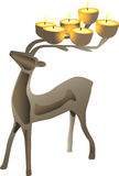 Cadelabra formado ciervos ilustración del vector