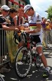 cadelcyklist evans Arkivbilder