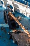 Cadena de ancla de la nave Malta fotos de archivo libres de regalías