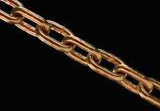 Cadena de cobre amarillo Foto de archivo libre de regalías