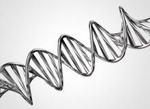 Cadena de la DNA del metal Fotos de archivo libres de regalías
